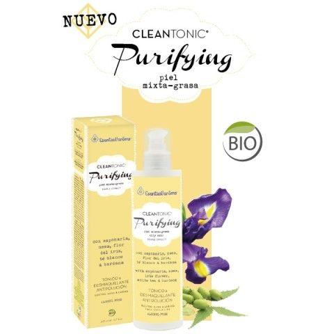 CLEANTONIC®, PURIFYING - Piel mixta-grasa Tónico, desmaquillante y antipolución. Respeta, limpia y tonifica tu piel. Sin alcohol, sin sulfatos, sin detergentes.