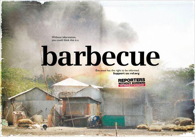 """barbecue"" Reporter ohne Grenzen, McCann Erickson"