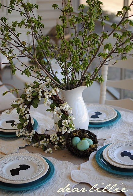 Love this idea for a spring table