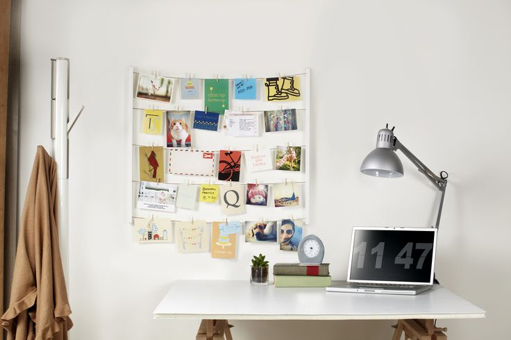 HANGIT provides 5 clotheslines for your to hang photos, memos, cards and pretty much anything to keep you inspired. DESIGN: Sung Wook Park/Paul Loebach // UMBRA (C) 2013