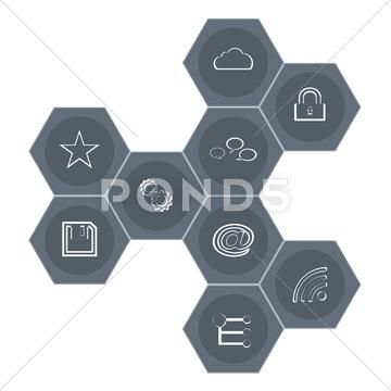 Vector Image of Set Modern Web Icons   Vector Graphics and Images