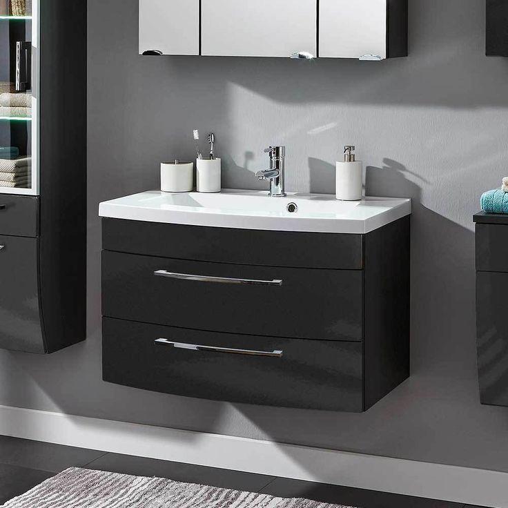 Die besten 25+ Waschbeckenunterschrank mit schubladen Ideen auf - hochglanz kuchen badmobel mobalpa