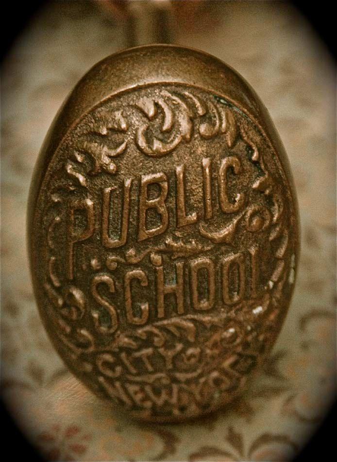 rare antique nyc public school door knob - Vintage Door Knobs