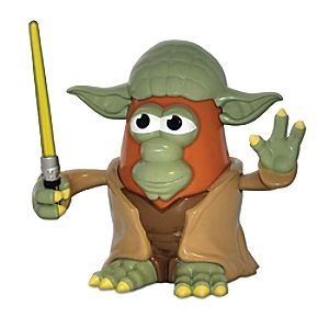Yoda Mr. Potato Head Play Set - Star Wars | Disney Store Mr. Potato Head goes green as he dresses up as everyone's favorite Jedi ''Mash-ter'', Yoda. Our detailed collectible spud includes removable components. This PopTater figure is a stellar pick for <i>Star Wars</i> fans of all ages!