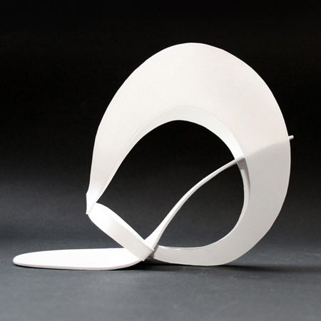 Shoes by Tea Petrovic, a graduated student of the Academy of Fine Arts in Sarajevo, Bosnia & Herzegovina. The collection consists of shoes that are made entirely by hand and was inspired by the Russian sculptor Naum Gabo and the Spanish architect Santiago Calatrava.