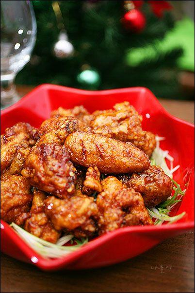 簡単!韓国料理レシピ > 単品料理 > キョチョンチキン風♪ しょうゆソースのフライドチキン ^^
