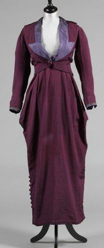 Charles Drecoll purple faille walking suit, c 1911-14