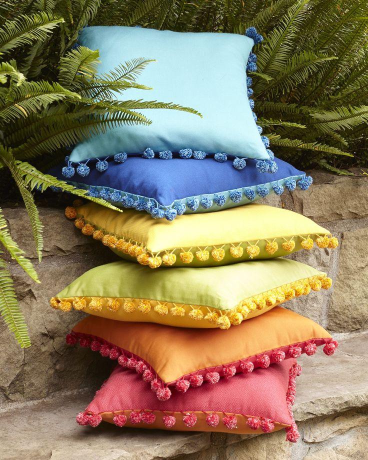 Outdoor Pom Pom Pillows