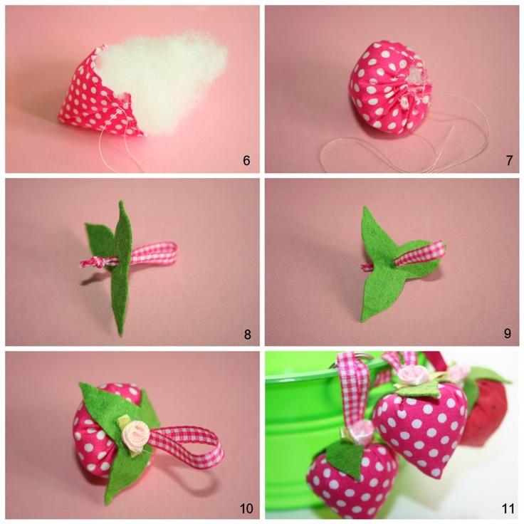 B.D.Designs: Strawberry keychain Tutorial