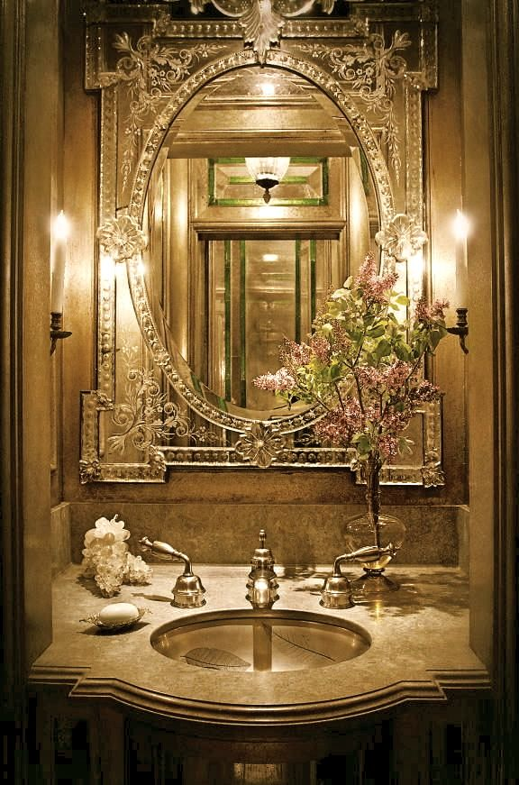 Best Eclectic Bathroom Images On Pinterest Room Dream - Gold bathroom light fixtures for bathroom decor ideas