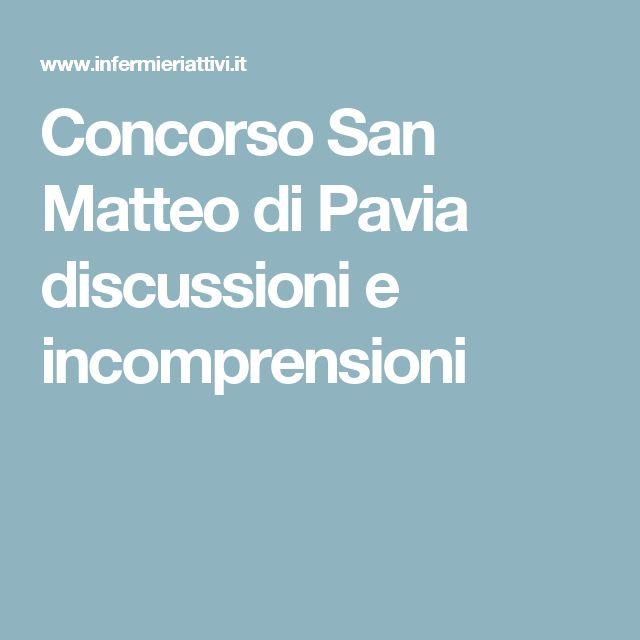 Concorso San Matteo di Pavia discussioni e incomprensioni