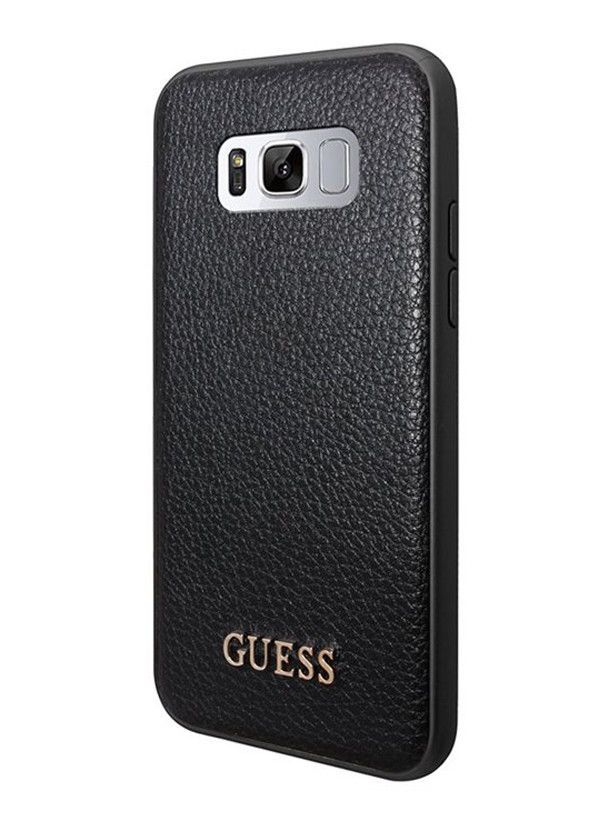 buy popular 9d3a4 5520b Guess iriDescent Cover for Samsung Galaxy S8 - Black | eBay | Guess ...