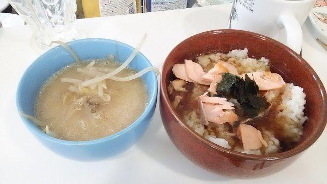 ホラー漫画家・神田森莉 不味そう飯: 鮭茶漬け。鮭をちゃんと焼いて作ってみた。鮭茶漬けはたまに食うと、ひじょうにうまい。味付けはそばつゆ。...