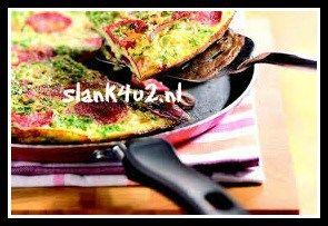 koolhydraatarme-spaanse-omelet-met ui-en-chorizo-slank4u2