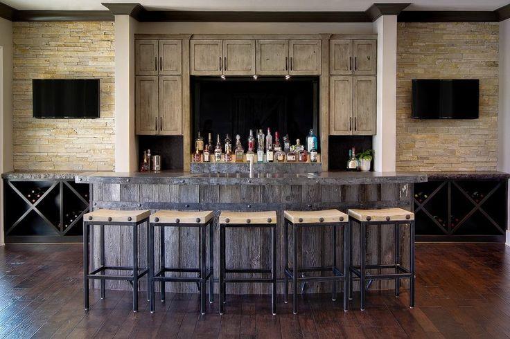 Best 25 Rustic Basement Bar Ideas On Pinterest