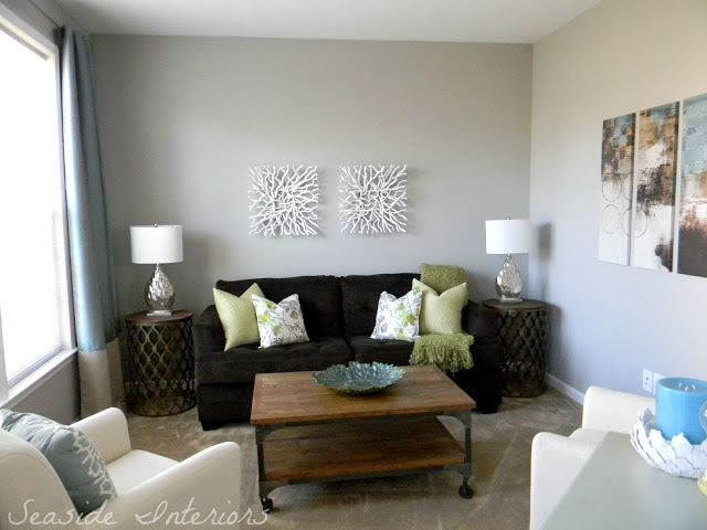 Seaside Interiors Requisite Gray By Sherwin Williams Contemporary Living Room Reveal Start To Finish