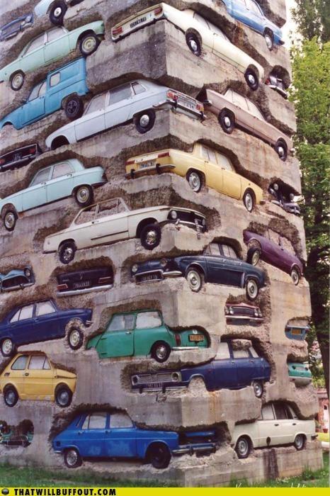 cool: Sports Cars, Street Art, Long Term, France, Old Cars, De Sculpture, Term Parks, Streetart, Longterm