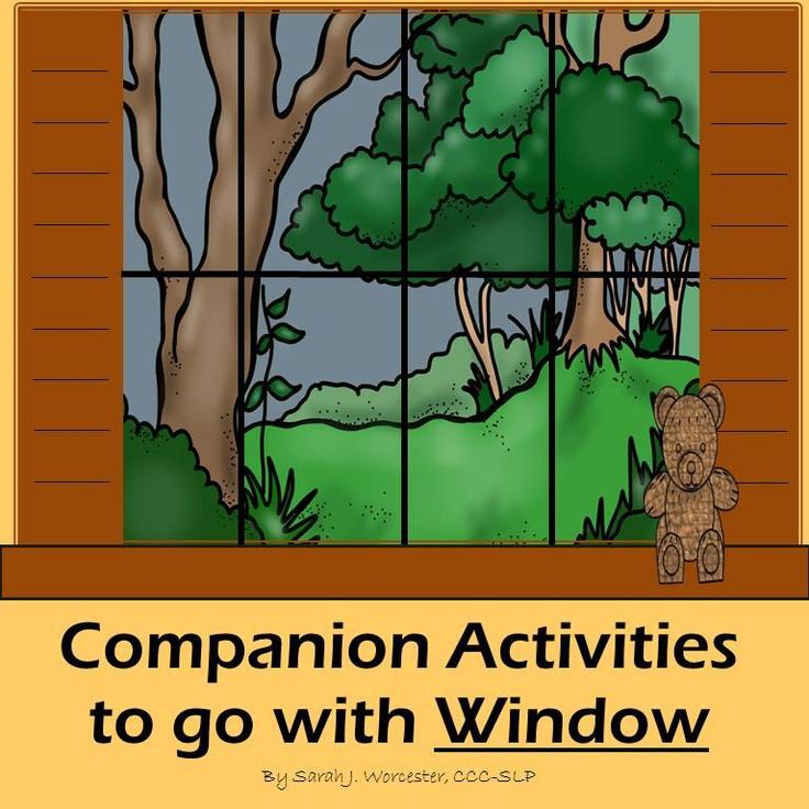 """Finally! Speech and Language companion activities to go with Jeannie Baker's fabulous wordless book """"Window."""""""