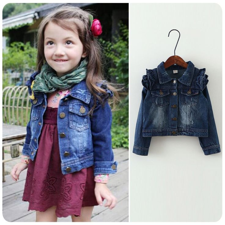 2016 New Girl Jeans Coat Fashion Kids Jackets For Girls Cowboy Kids Coats short length Girl Jeans Coat and jackets