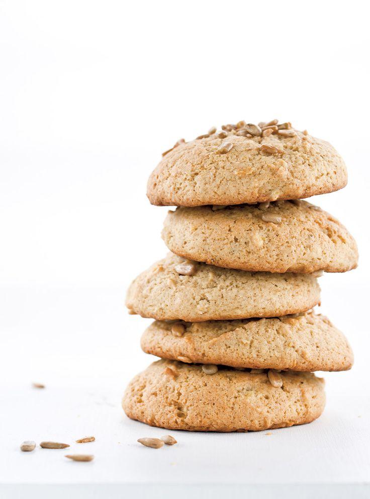Recette de Ricardo de biscuits à la banane et aux graines de tournesol