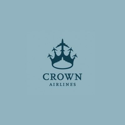 Genius as fuck!     Crown Airlines | Logo Design Gallery Inspiration | LogoMix