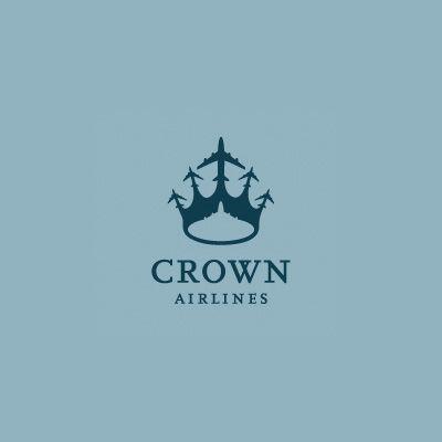 Crown Airlines | Logo Design Gallery Inspiration | LogoMix