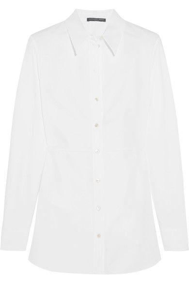 Alexander McQueen - Ruffled Cotton-piqué Shirt - White - IT