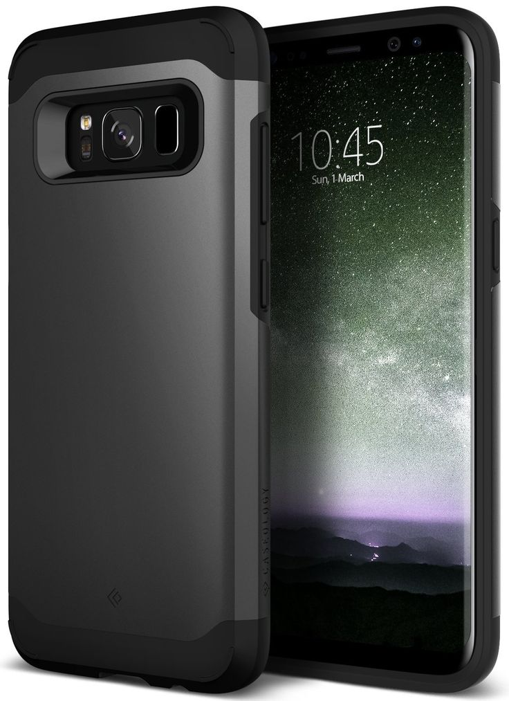 Galaxy S8 Case, Caseology [Legion Series] Heavy Duty Protection Slim Protective Rugged Dual Layer Corner Cushion Design for Samsung Galaxy S8 (2017) - Black. The Caseology Legion Galaxy S8 Case Black features Military-Grade heavy duty protection with a slim protective design and shock absorbing frame. Designed for impact, this sleek dual layer phone case for the Galaxy S8 combines TPU & PC material for double the protection while maintaining a thin, non-bulky profile. The smooth yet…