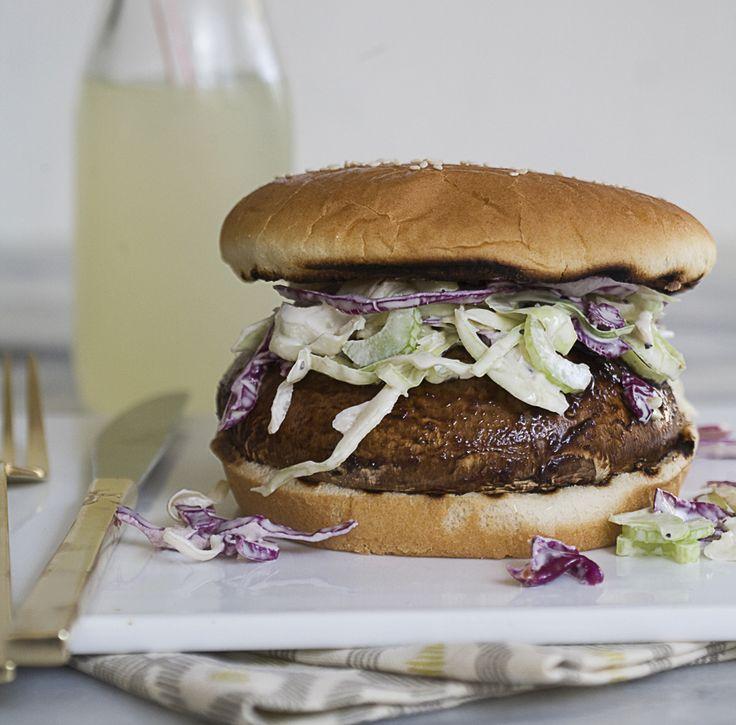 Portabella Mushroom BBQ Burger