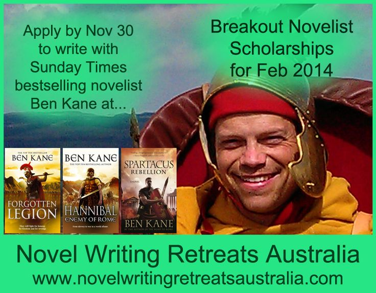 There are up to six Breakout Novelist Scholarships available for Feb 2014.  These provide promising novelists from around Australia the opportunity to write with Sunday Times bestselling novelist Ben Kane over the course of a 9 day/8 night novel writing retreat.  For details, see http://www.novelwritingretreatsaustralia.com/p/breakout-novelist-scholarships-australia.html