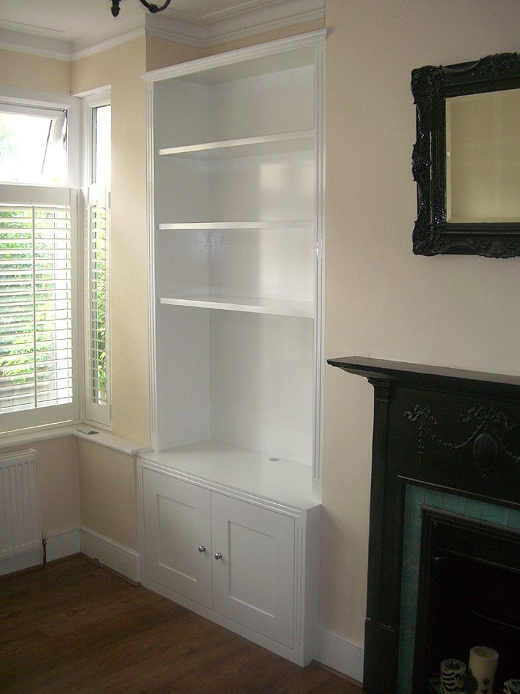Traditional alcove bookshelves, Chiswick