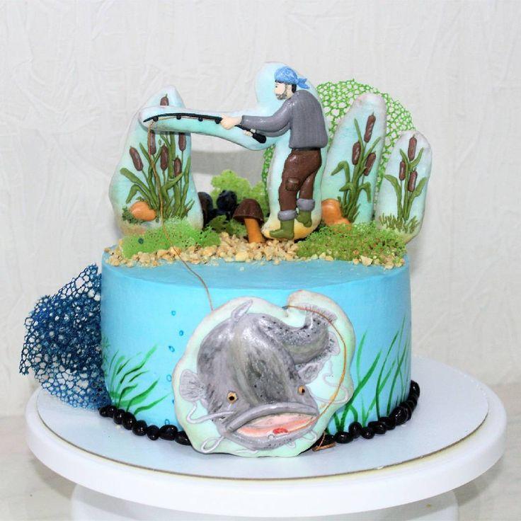 Торт на тему рыбалка картинки