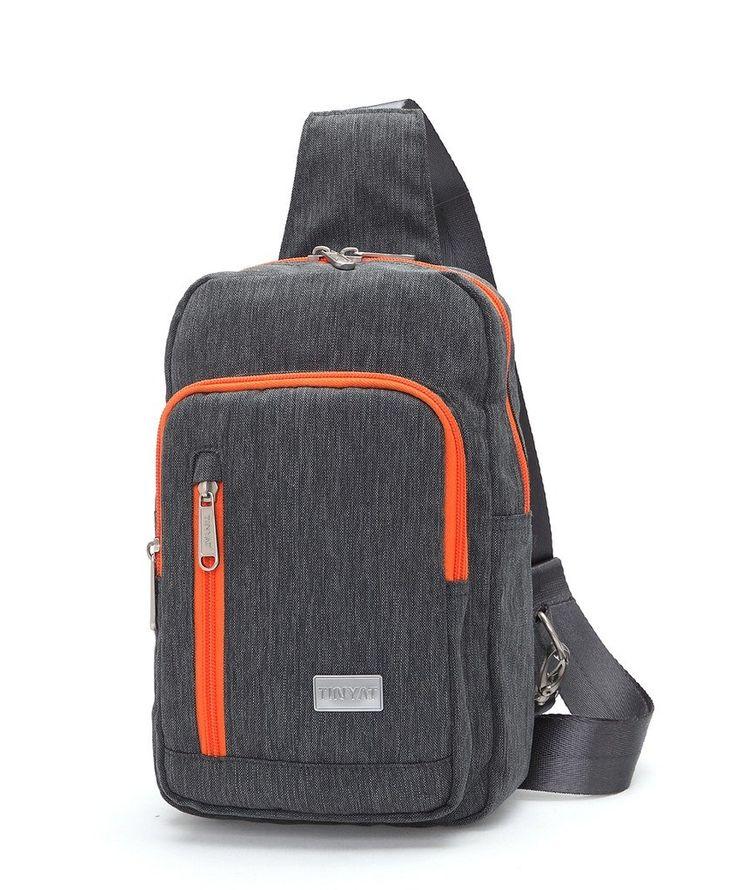 Tinyat Sling Backpack Chest Pack Casual Crossbody Travel Shoulder Bag for Women Men T601, Gray: Handbags: AmazonSmile