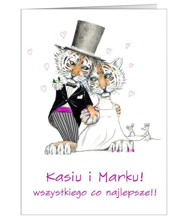 """Urocza, """"tygrysia"""" kartka idealna na ślub"""