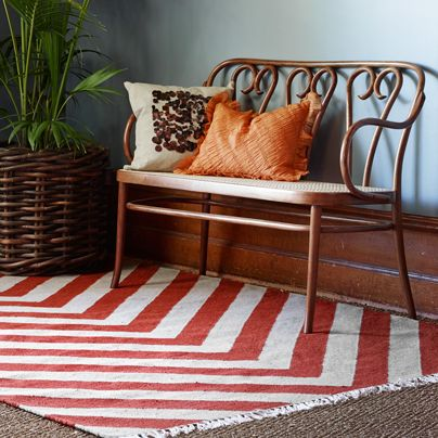 Gatsby Rug in Scarlet from Aura Home