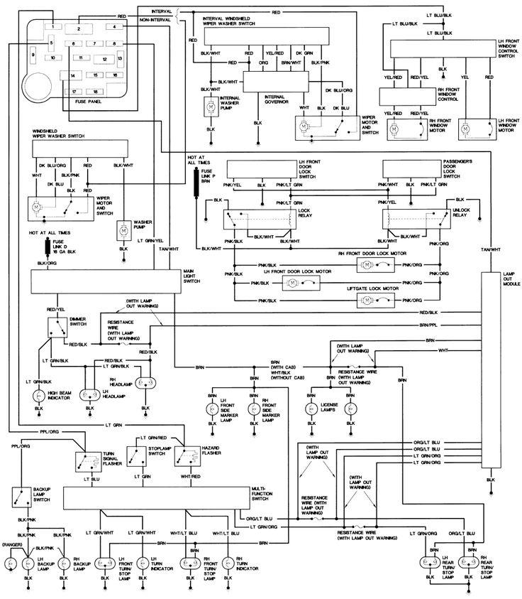 1990 Ford Steering Column Diagram | Repair Guides | Wiring Diagrams | Wiring Diagrams | AutoZone