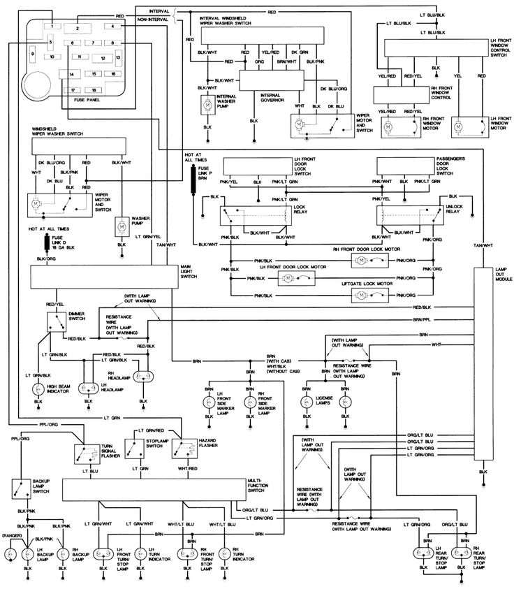 1990    Ford    Steering Column    Diagram      Repair Guides   Wiring Diagrams   Wiring Diagrams   AutoZone