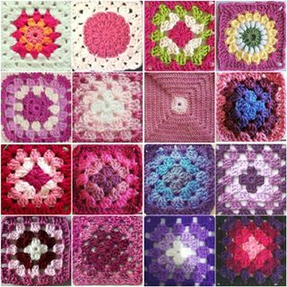 Loved taking part in #grannysquareday2015 yesterday and here are some of my favourite squares making up a tiny weenie #virtualgrannysquareblanket @suregal27