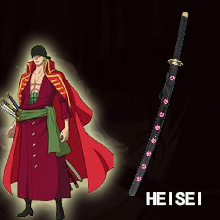 Anime One Piece Roronoa Zoro Cosplay Sword Carbon Steel Blade Japanese Katana