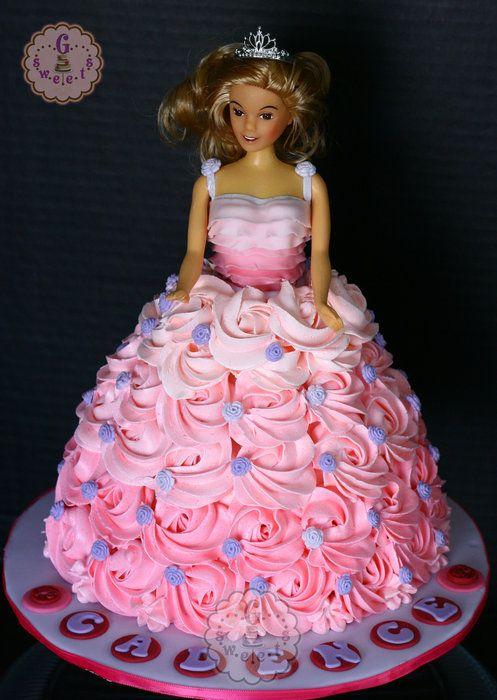 Ombre Barbie Cake - by GSweetsBySarah @ CakesDecor.com - cake decorating website