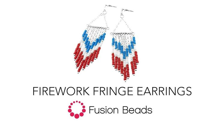 Learn how to make the Firework Fringe Earrings by Fusion Beads