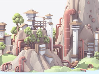 Timothy J. Reynolds, who goes by the online handle turnislefthome, is a digital artist who specializes in adorable lowpoly 3D renderings of cartoon cars, imaginative, pastel and otherworldly landscapes, and video game inspired nostalgia.