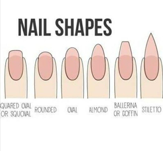 These are some of the different nail shapes to ask For. Know what you want!