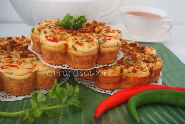 Recipes today - Kuih Bakar Berlauk / Bingka Berlauk