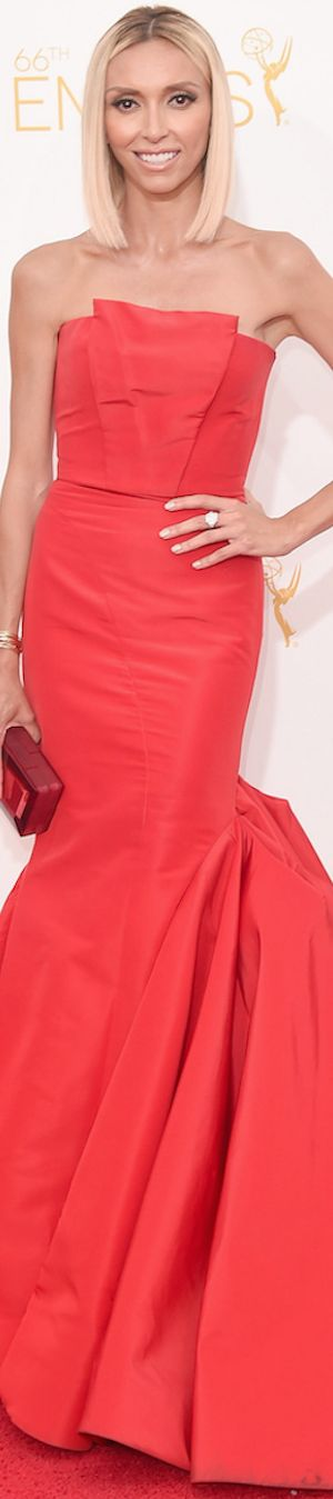 Giuliana Rancic in Gustavo Cadile  | 2014 Emmy Awards | The House of Beccaria~