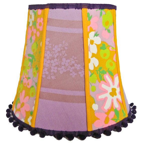 17 best custom lamp shades on etsy images on pinterest custom lamp plum preserves large retro shabby chic lamp shade with pompoms aloadofball Images