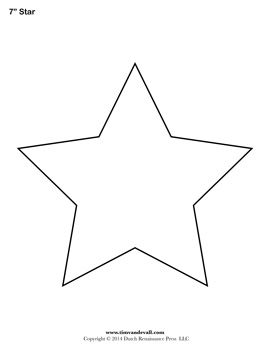 Adaptable image intended for star stencils printable