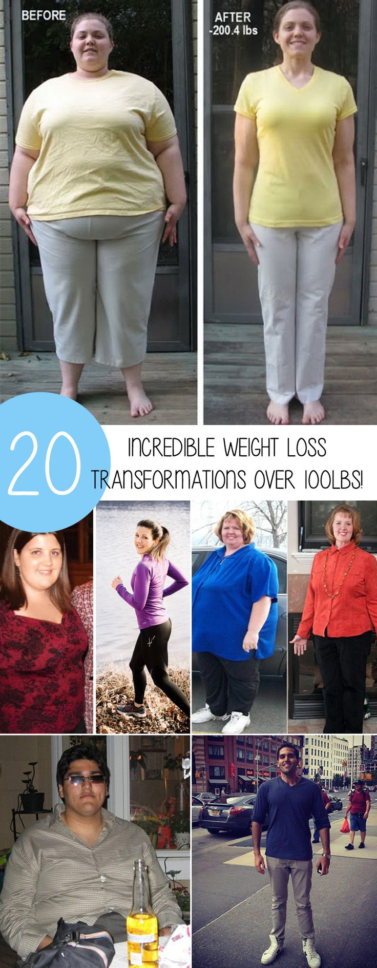 20 Amazing Weight Loss Transformations Losing Over 100lbs!//In need of a detox? 10% off using our discount code 'Pin10' at www.ThinTea.com.au