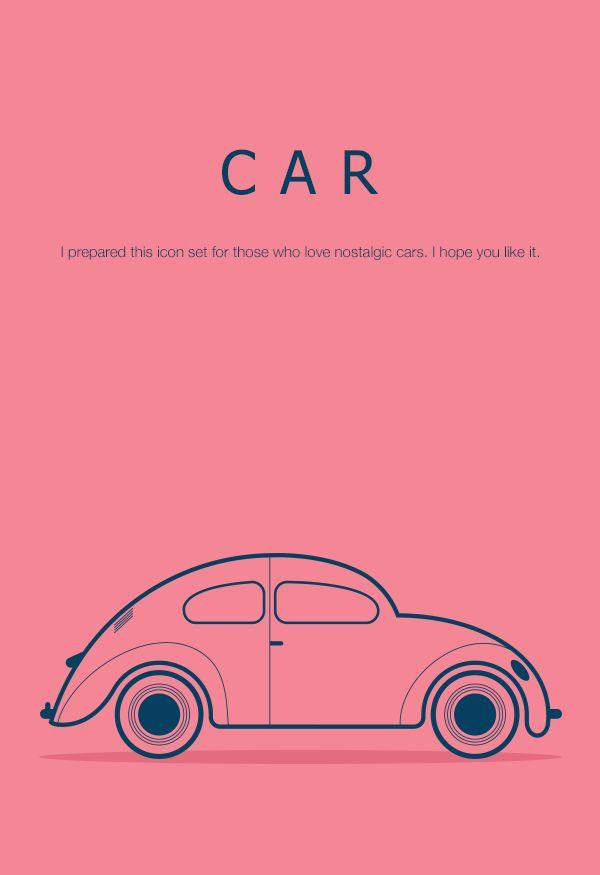 Car Icon Set by Arzu Sendag, via Behance
