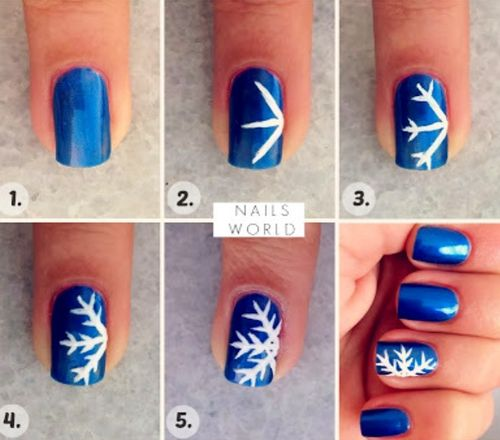 Snowflake Nail Art Made Easy!